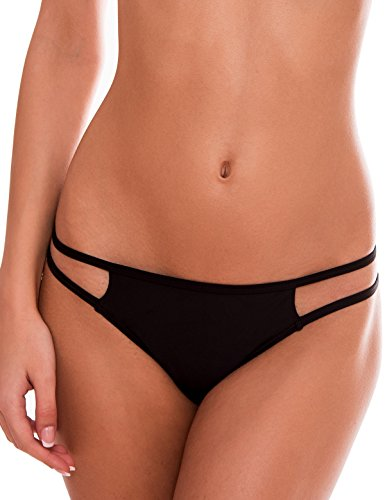 262ba23e3bbe2 ... at the bottom: lots of cheek peek. Comfortable without any irritation.  Low rise with strappy sides. Similar products. RELLECIGA Womens Push-up  Swimwear ...