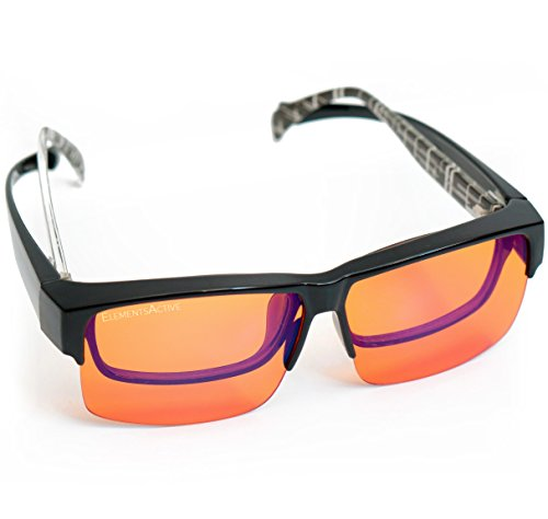 5b499f2a19 Extra coverage over your glasses is intentional and helps block peripheral  stray blue light. Great for long office hours   gaming sessions - save your  eyes ...