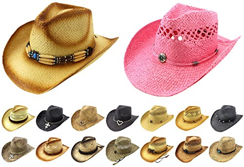 c3585f0540a Enimay Western Outback Cowboy Hat Men s Women s Style Felt Canvas ...