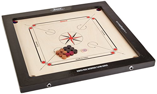 Carrom GAME BOARD LARGE Made In USA 100 Different Games Wood Grain Design